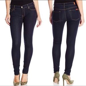 7FAM The Skinny Classic Skinny Rinsed Indigo Denim